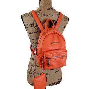 Steve Madden Orange Mini Backpack Set N1376*